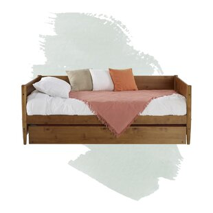 Grady Twin Solid Wood Daybed with Trundle by Foundstone