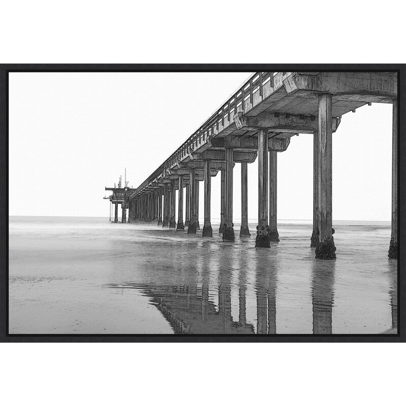 « Scripps Pier at Dawn » par Peter Hawkins Danita delimont-reproduction de photo sur toile encadrée