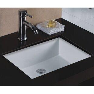 Price Check Rhythm Series Ceramic Rectangular Undermount Bathroom Sink with Overflow ByWells Sinkware