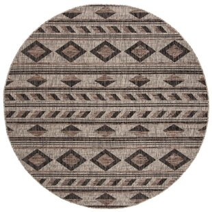 Mathes Gray/Black Indoor/Outdoor Area Rug by Mistana
