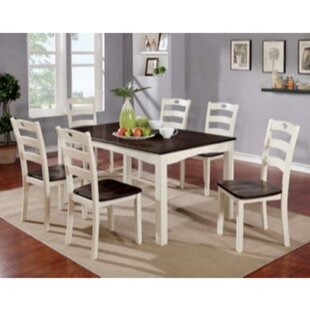 Valladares 7 Piece Solid Wood Dining Set by August Grove