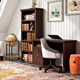 Ferrell 2 Piece Wood Desk Office Suite