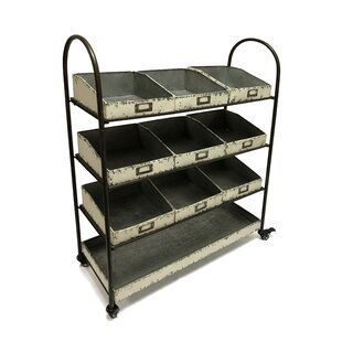 Find Whorton 42 H x 33 W Shelving Unit with Locking Wheels By Gracie Oaks