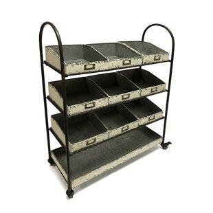 Affordable Price Whorton 42 H x 33 W Shelving Unit with Locking Wheels ByGracie Oaks