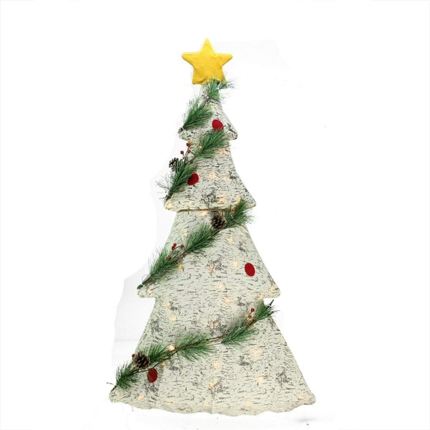 Northlight Lighted 2 D Country Rustic Birch Christmas Tree Decoration Clear Lawn Art Reviews Wayfair