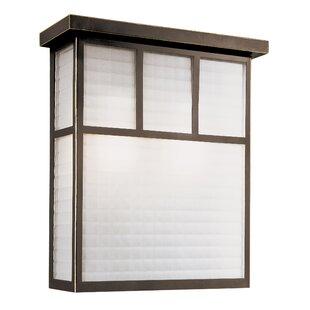 Garden Box 1-Light Outdoor Flush Mount By TransGlobe Lighting Outdoor Lighting