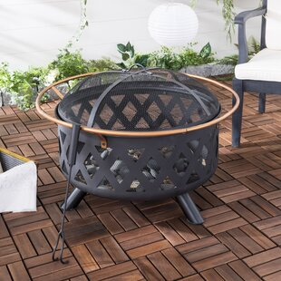 Safavieh Bryce Iron Wood Burning Fire Pit