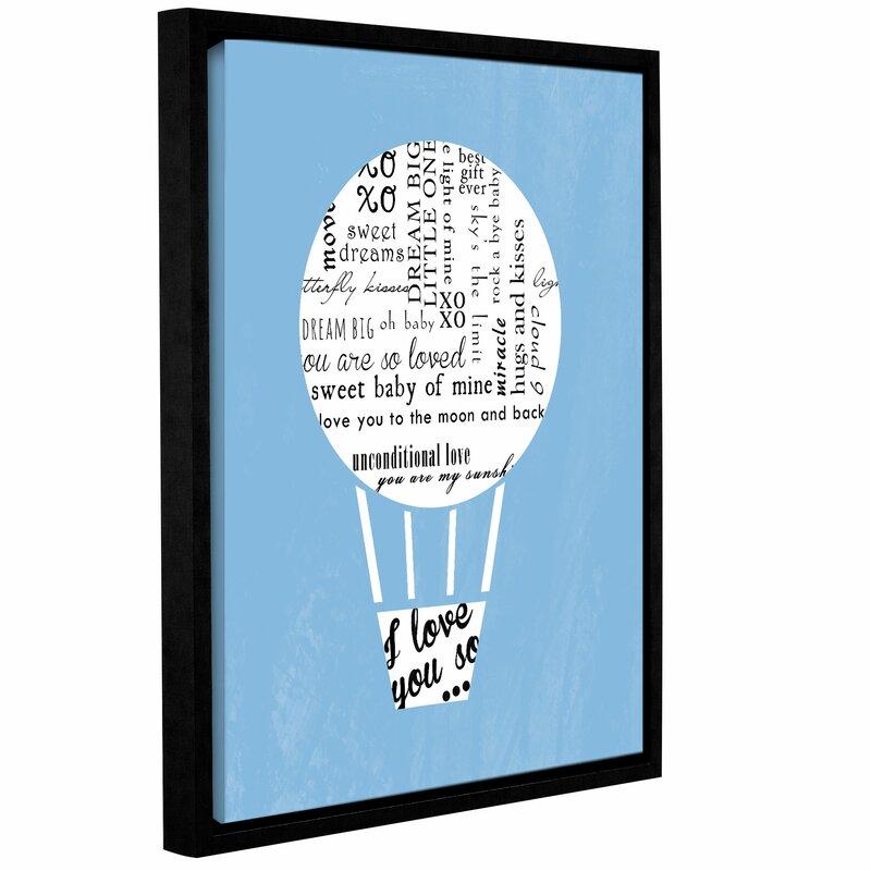Harriet Bee Hot Air Balloon Textual Art On Canvas Wayfair