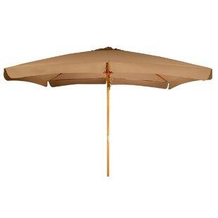 Junkins Wood Frame Patio Rectangular 10' Market Umbrella