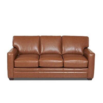 Custom Upholstery Carleton Leather Sofa