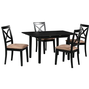 Fontinella 5 Piece Extendable Solid Wood Dining Set Discount