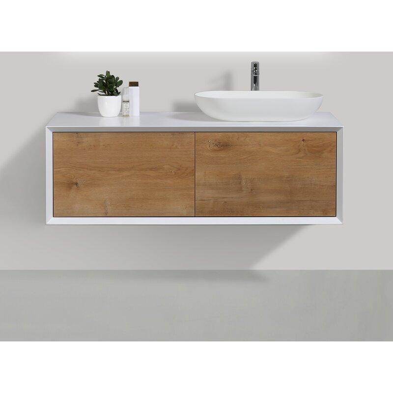 Orren Ellis Leffler 48 Wall Mounted Single Bathroom Vanity Set Wayfair