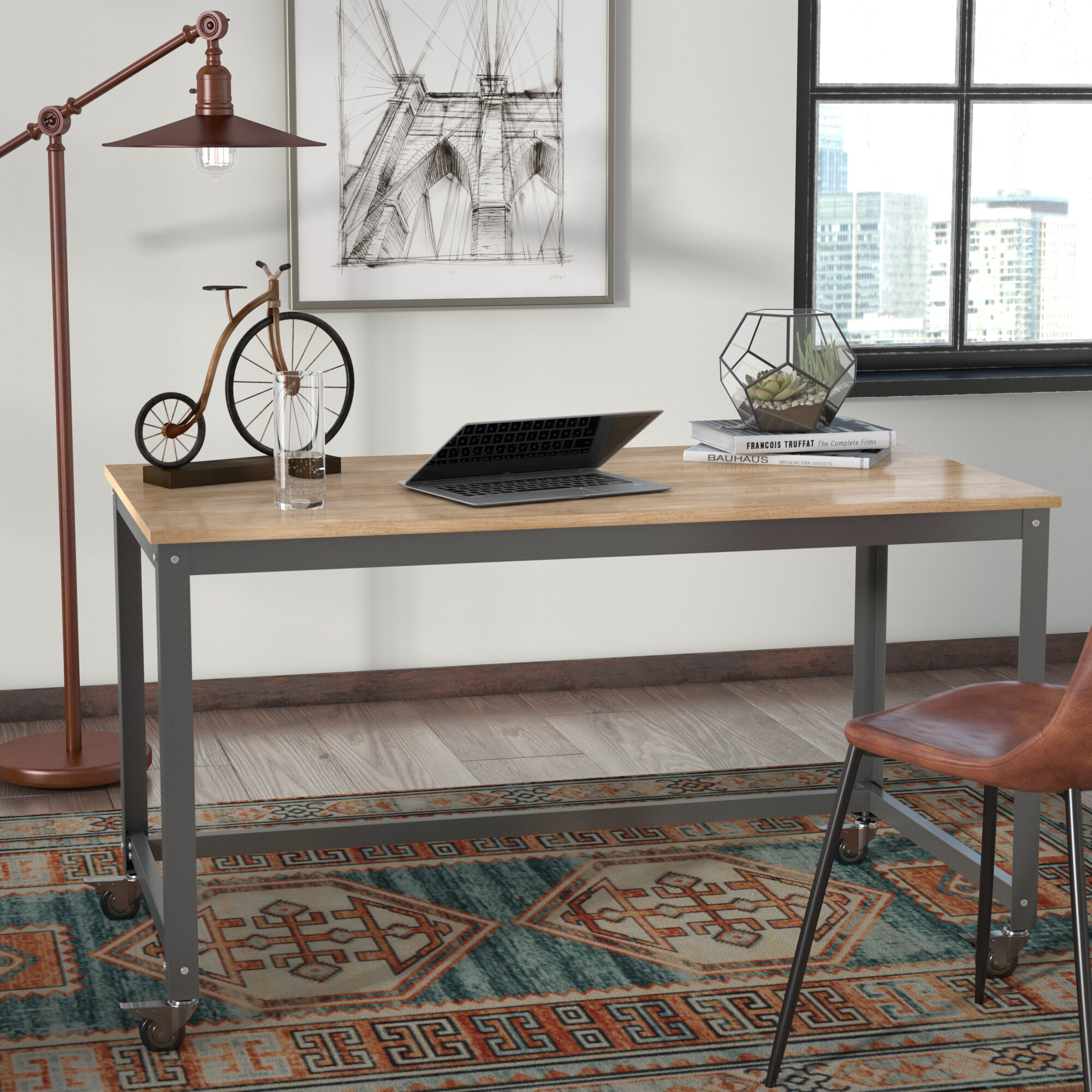 desk office small furniture industrial crank extend productstandardzoom desks product home largestandard arhaus