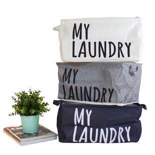 Brayden Studio Drawstring Top My Laundry set with Handles (Set of 3)