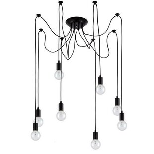 Edison 8 Light Cluster Pendant by OHR Lighting