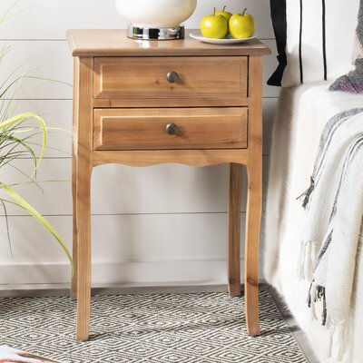 Philipston 2 Drawer Nightstand Color: Red Maple by Andover Mills