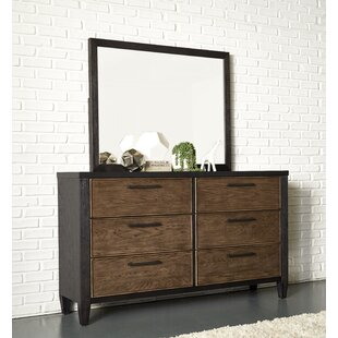 Lymingt 6 Drawer Double Dresser with Mirror