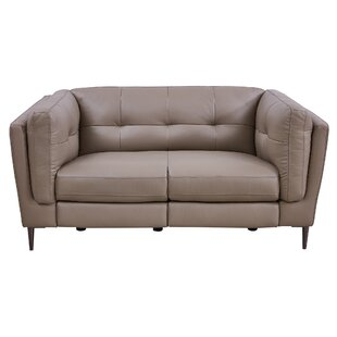 Goodner Leather Reclining Loveseat by Latitude Run