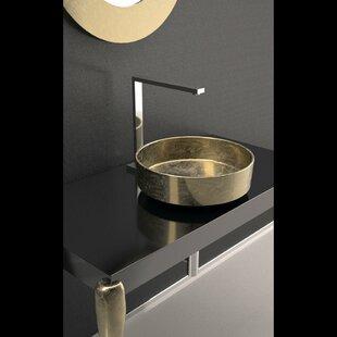 Rho Lux Circular Vessel Bathroom Sink by Maestro Bath