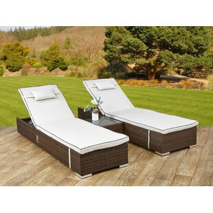 Vivian Lounger Set With Cushion And Table Image