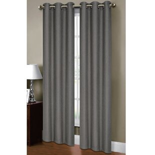 Henley Solid Semi-Sheer Curtain Panels (Set of 2) by Bella Luna