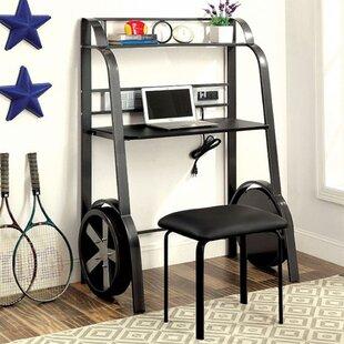 Halfmoon Desk with Stool by Zoomie Kids