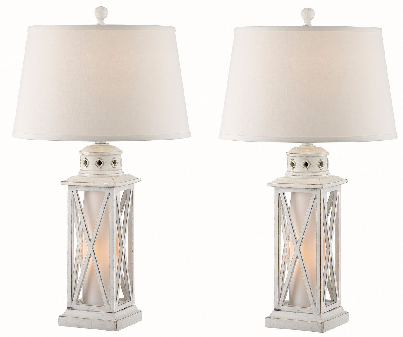 "Cantrell Lantern 8"" Standard Table Lamp Set"