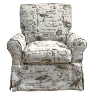 Balhi Slipcovered Box Cushion Swivel Armchair