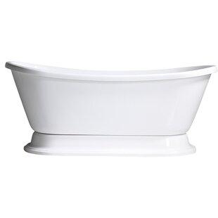 Hotel Acrylic Freestanding Soaking Bathtub