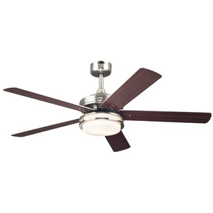 Compare prices 52 Boulder 5 Blade Ceiling Fan By Andover Mills