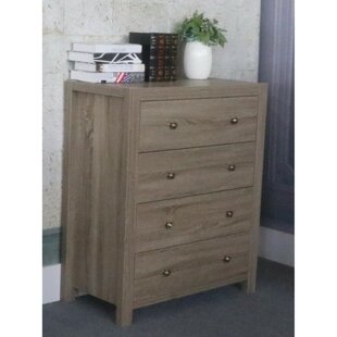 Abram Contemporary 4 Drawer Chest by Grovelane Teen New