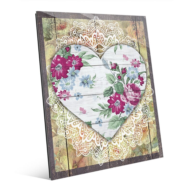Floral Heart Graphic Art