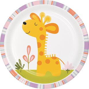 Giraffe Happy Jungle Appetizer Plate (Set of 24)