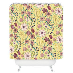 Igourdane Canary Floral Single Shower Curtain