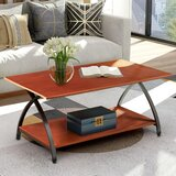 Adalbero Cross Legs Coffee Table with Storage by Red Barrel Studio®