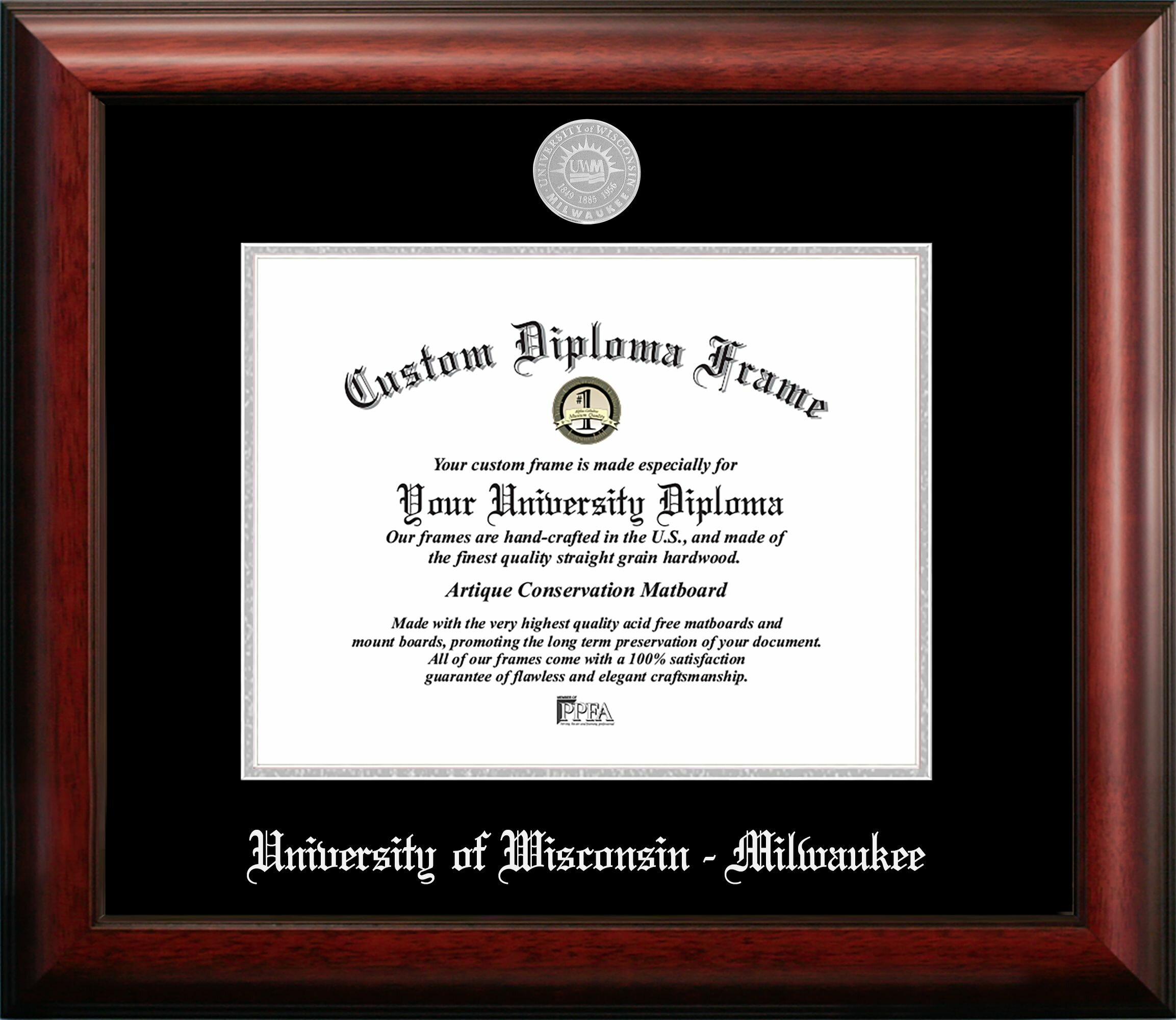 Campus Images University Of Wisconsin Milwaukee Embossed Diploma Picture Frame Wayfair