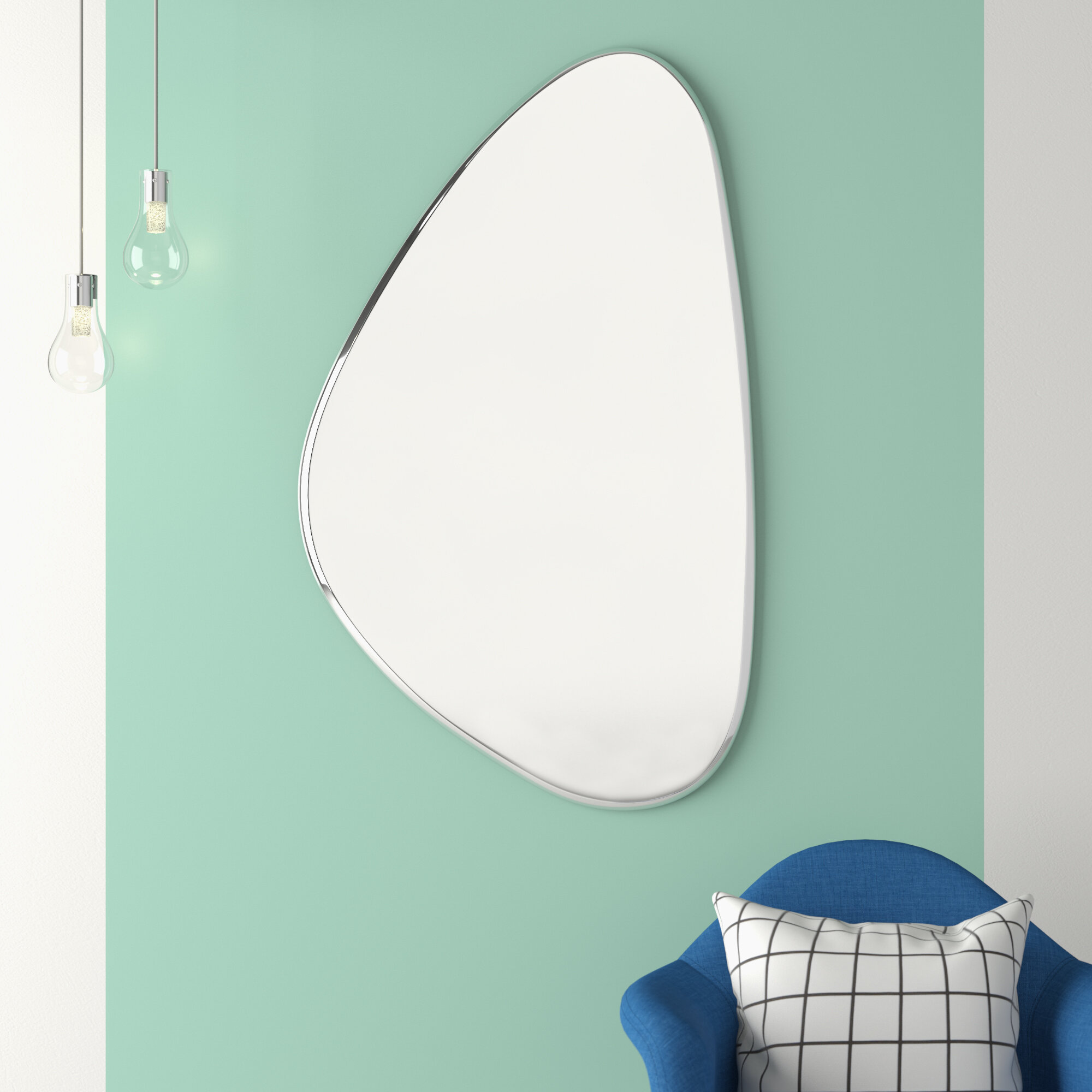 Hashtag Home Deux Modern Contemporary Beveled Frameless Accent Mirror Reviews Wayfair