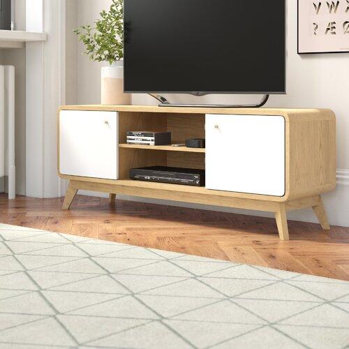 TV-Lowboard Daswaney für TVs bis zu 58 | Wohnzimmer > TV-HiFi-Möbel | Eiche/weiß | Norden Home