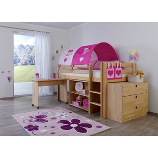 Giordano European Single High Sleeper Bed With Furniture Set By Zoomie Kids