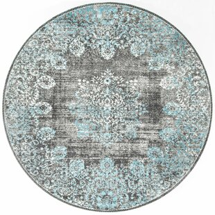 David Turquoise Blue/Gray/ Beige Area Rug by Mistana