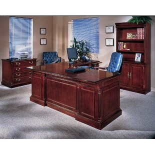 Sadye 3-Piece U-Shape Executive Desk Office Suite by Canora Grey 2019 Sale