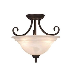 Tiemann 3-Light Semi Flush Mount by Three Posts