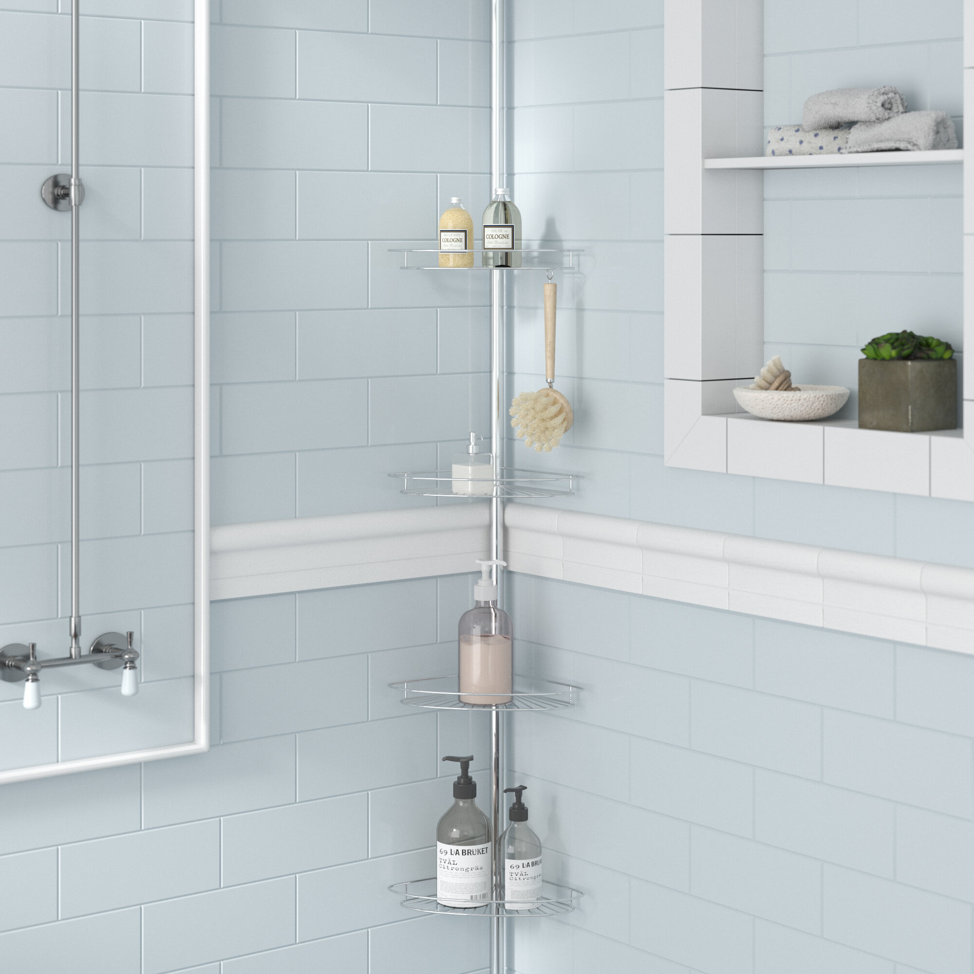 Zipcode Design Kohr Pole Shower Caddy & Reviews | Wayfair
