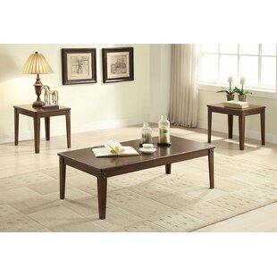 Darby Home Co Edmundson Wooden 3 Piece Coffee Table Set