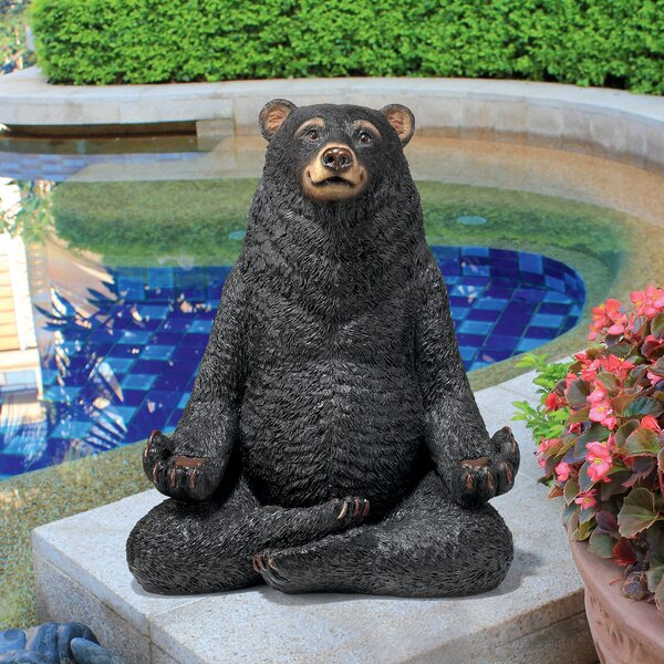 Charming Design Toscano Being One With The Honey Zen Bear Statue U0026 Reviews | Wayfair