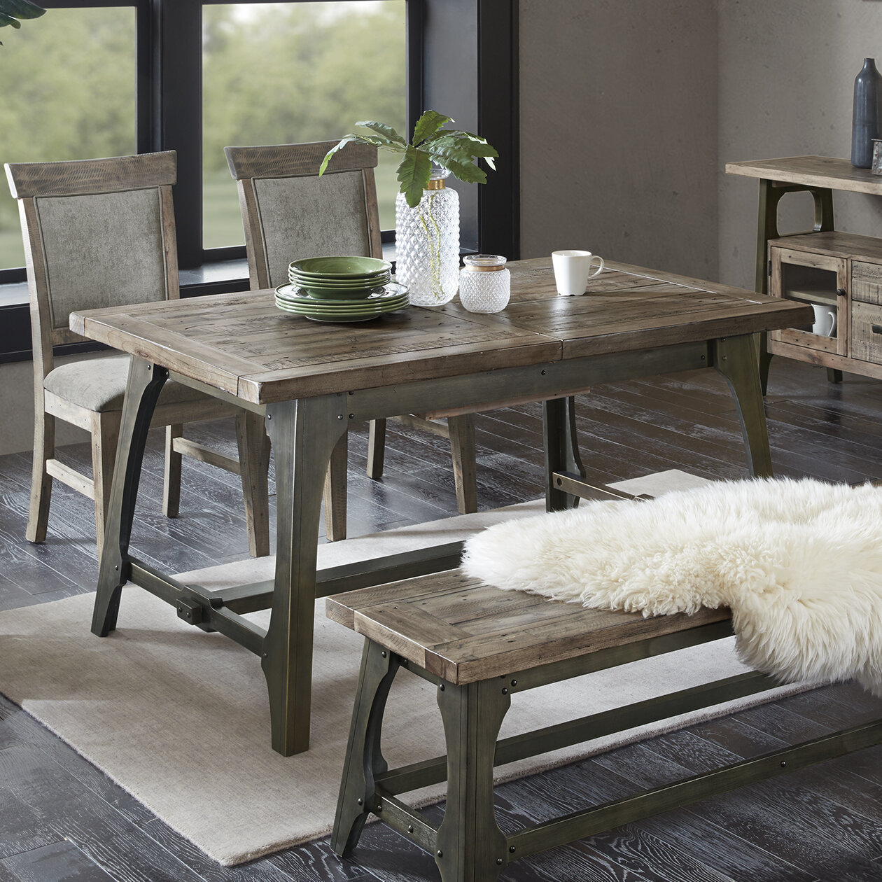 Casimir Extendable Solid Wood Dining Table & Reviews | Joss ...