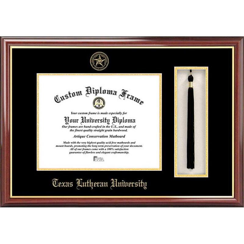 Diploma Frame Deals Texas Lutheran University Petite Tassel Picture Frame Wayfair