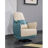 Elberton 36 W Top Grain Leather Swivel Club Chair by Mercer41