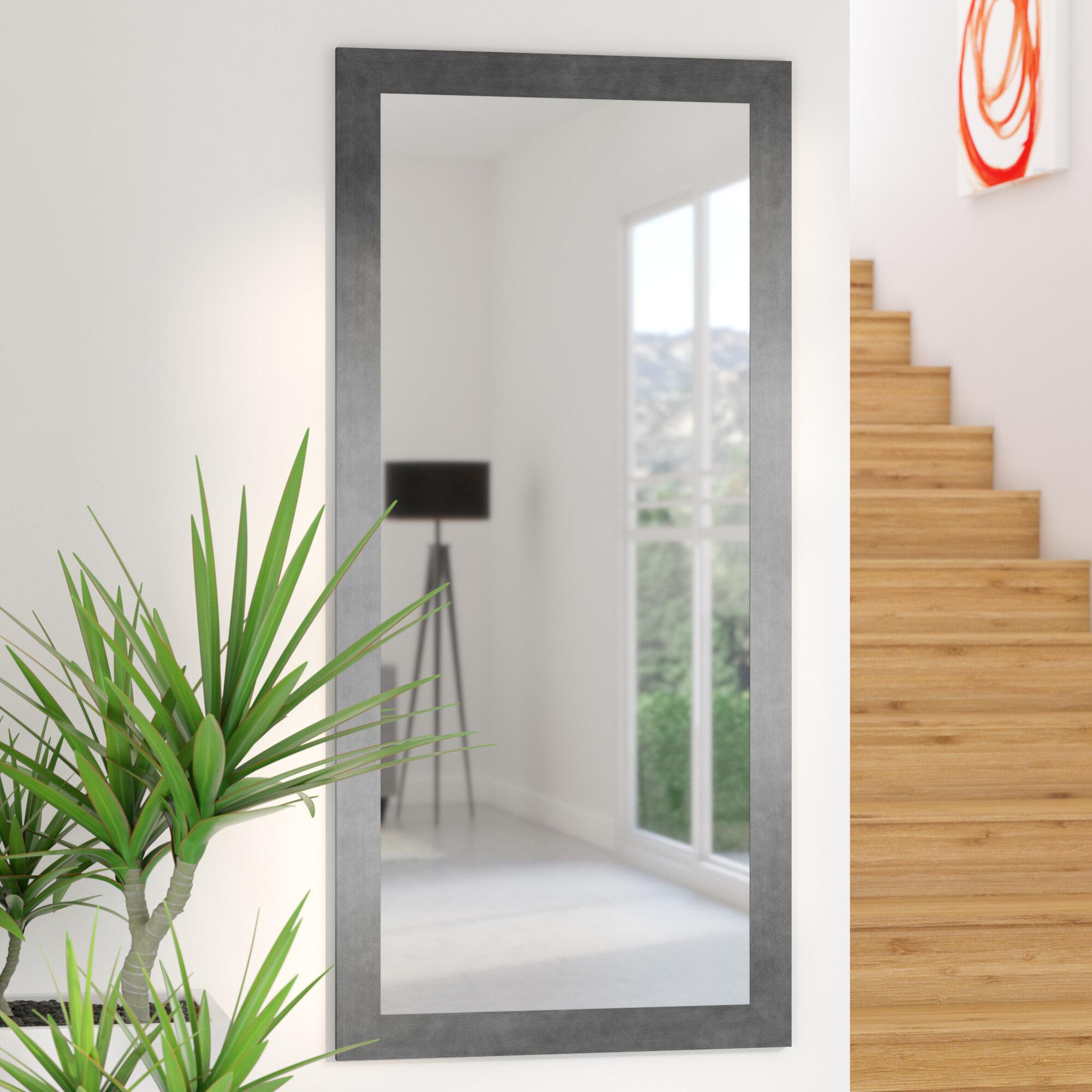 Wade Logan Silver Gunmetal Aluminum Frame Modern Contemporary Wall Mirror Reviews Wayfair