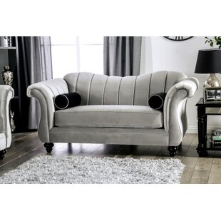 Drummond Flared Arms Loveseat by Rosdorf Park